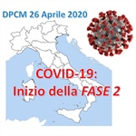 DPCM 26 Aprile 2020: inizio della FASE 2