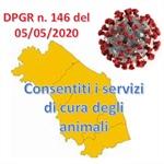 REGIONE MARCHE: consentiti i servizi di cura degli animali e altre indicazioni