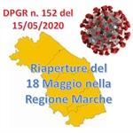Riaperture del 18 Maggio nella Regione Marche