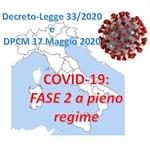 FASE 2 a pieno regime: Decreto-Legge 16 Maggio 2020 n. 33 e DPCM 17 Maggio 2020