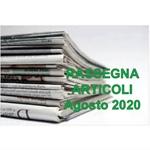 Rassegna ARTICOLI pubblicati ad Agosto 2020