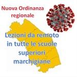 Regione Marche: scuole superiori in didattica a distanza al 100 per cento