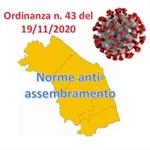 Nuova Ordinanza regionale per il contenimento del contagio da COVID-19
