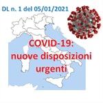 COVID-19: nuovo Decreto Legge in vigore dal 7 al 15 Gennaio