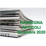 Rassegna ARTICOLI pubblicati a Dicembre 2020