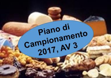 Controlli Ufficiali effettuati sugli alimenti, Piano campionamenti 2017 - SIAOA AV3