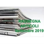 Rassegna ARTICOLI pubblicati a Settembre 2019