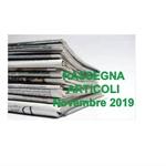 Rassegna ARTICOLI pubblicati a Novembre 2019