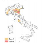 INFLUENZA AVIARIA AD ALTA PATOGENICITA': AGGIORNAMENTO DELLA MAPPA delle ZONE A e B
