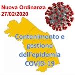 REGIONE MARCHE: Nuova Ordinanza per contenimento e gestione emergenza epidemiologica da COVID-19