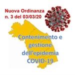 REGIONE MARCHE: ulteriore Nuova Ordinanza (n. 3) per contenimento e gestione emergenza epidemiologica da COVID-19