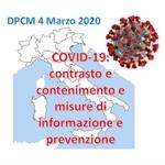DPCM 4 Marzo 2020: nuovo decreto nazionale per l'epidemia da COVID-19
