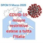 COVID-19: nuovo DPCM 9 Marzo 2020, TUTTA L'ITALIA E' CONSIDERATA ZONA PROTETTA
