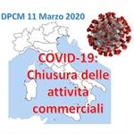 Nuovo DPCM 11 Marzo 2020: chiusura delle attività commerciali
