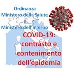 COVID-19: ordinanza che vieta gli spostamenti delle persone